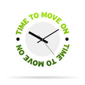 Time to move on Clock — Stock Photo
