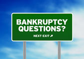 Bankruptcy Questions Road Sign — Stock Photo