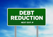 Debt Reduction Road Sign — Stock Photo