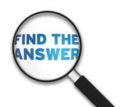 Lupa - encontrar a resposta — Foto Stock
