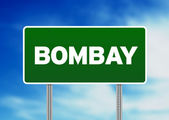 Green Road Sign - Bombay — Stock Photo