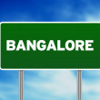 Green Road Sign - Bangalore — Stock Photo