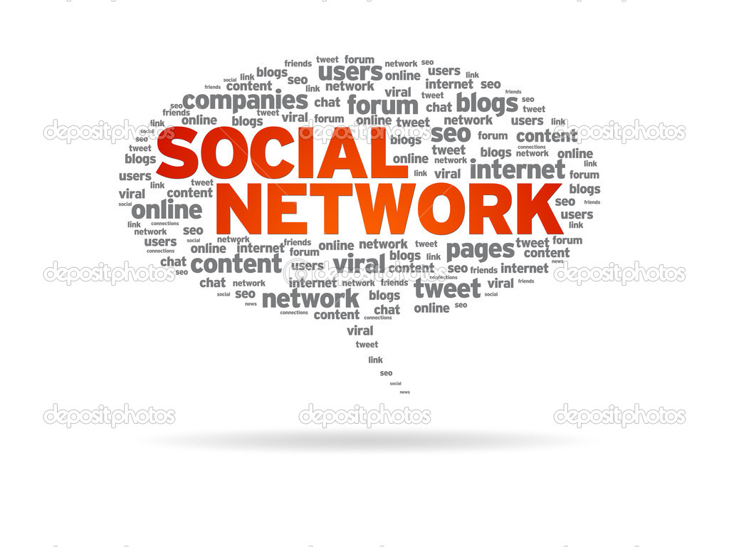 Speech bubble with the word Social Network on white background. — Stock Photo #6326260