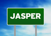 Green Road Sign - Jasper — Stock Photo