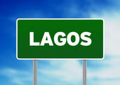 Green Road Sign - Lagos — Stock Photo