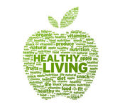Healthy Living Apple Illustration — Stock Photo