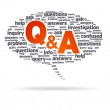 Speech Bubble - Q&A — Stock Photo #6382030