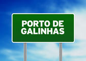 Green Road Sign - Porto de Galinhas — Stock Photo