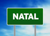 Green Road Sign - Natal — Стоковое фото