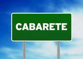 Green Road Sign - Cabarete, Dominican Republic — Stock Photo