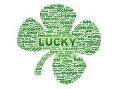 Words - Clover — Stock Photo