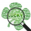Stock Photo: Magnifying Glass - Lucky