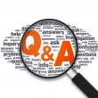 Magnifying Glass - Q&A - Stock Photo