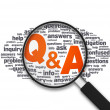Magnifying Glass - Q&A — Stock Photo
