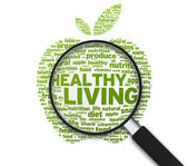 Magnifying Glass - Healthy Living — Stock Photo