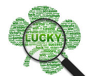 Magnifying Glass - Lucky — Stock Photo