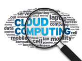Magnifying Glass - Cloud Services — Stock Photo
