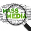 Magnifying Glass - Mass Media — Stock Photo