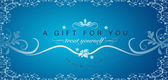 A Gift For You - Gift Certificate — Stock Photo