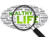 Büyüteç - sağlıklı yaşam — Stok fotoğraf
