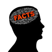 Silhouette head - Facts — Stock Photo