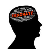Silhouette head - Innovate — Stock Photo