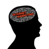 Silhouette head - Internet Marketing — Stock Photo
