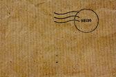 Recyklovat hnědé tašky textury s razítkem — Stock fotografie