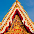 Gable apex ornament temple — Stock Photo