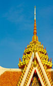 Gable apex ornament temple — Stock Photo