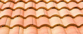 Pattern of red roof on house — Stock Photo