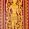 Native Thai style wood carving - Foto de Stock