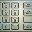 Stock Photo: Keypad of automated teller machine