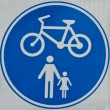Stock Photo: Cycle Track Sign