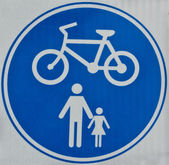 Cycle Track Sign — Stock Photo