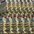 Detail of the temple Wat Arun in Thonburi — Stock Photo
