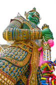 "Demon guard statue at ""Wat Arun"" in Thailand. — Stock Photo"