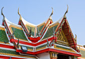 Roof of temple in Thailand — Stock Photo