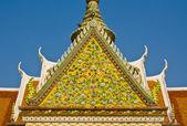 Partie supérieure de l'architecture de style thaïlandais — Photo