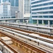 Sky train railway line in Bangkok — Stock Photo