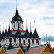 Loha Prasat Metal Palace in Bangkok Thailand named Wat Ratchanada — Foto de Stock