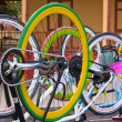 Fixed gear bicycles — Stock Photo