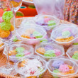 Colorful sweetness Thai dessert — Stock fotografie