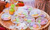 Colorful sweetness Thai dessert — Stock Photo