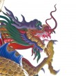 Colorful dragon statues - Stock Photo