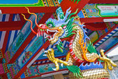 Colorful dragon statues — Stock Photo