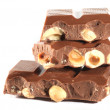 Stock Photo: Milk Chocolate with nuts