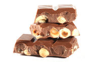 Milk Chocolate with nuts — Stock Photo