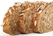 El pan. tres rebanadas. — Foto de Stock