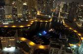 Scape miasto nocą. dubai — Zdjęcie stockowe